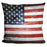 American Wooden Flag Pillow