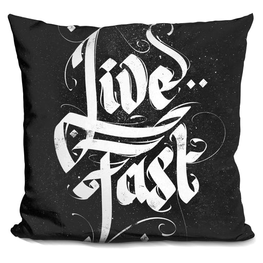 Typo Live Fast Pillow