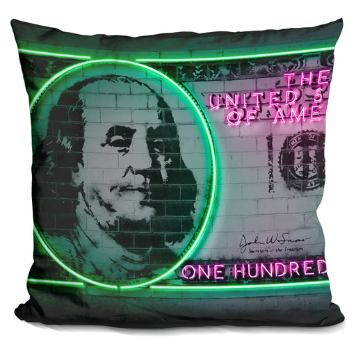 100 Dollars Pillow