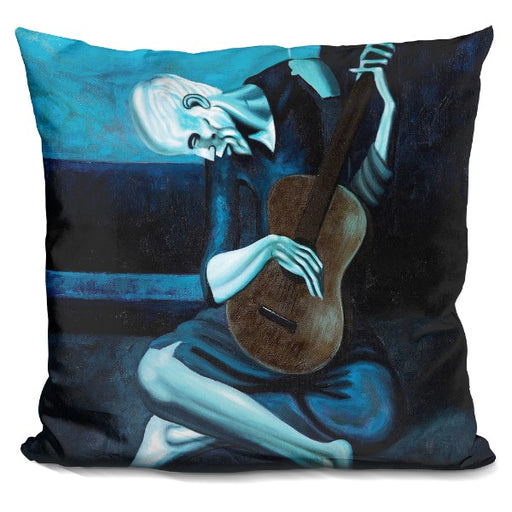 The Old Guitarist Pillow