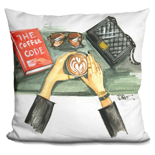 Coffee Flat Lay Pillow