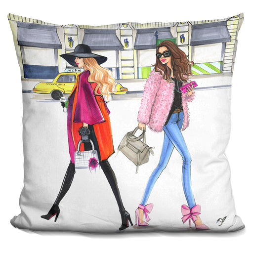 Feburary Pink Fashionistas Pillow