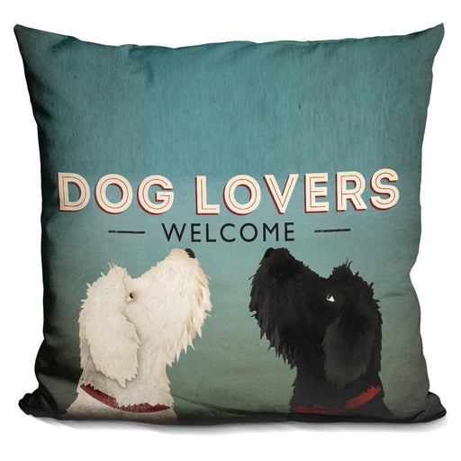 Doodle Dog Lovers Welcome Pillow