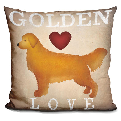 Golden Dog Love I Pillow