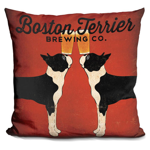 Boston Terrier Brewing Co Square Pillow