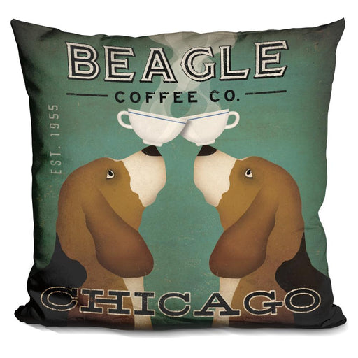 Beagle Coffee Co Chicago Pillow