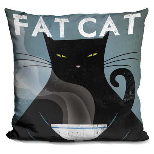 Cat Coffee no City Pillow