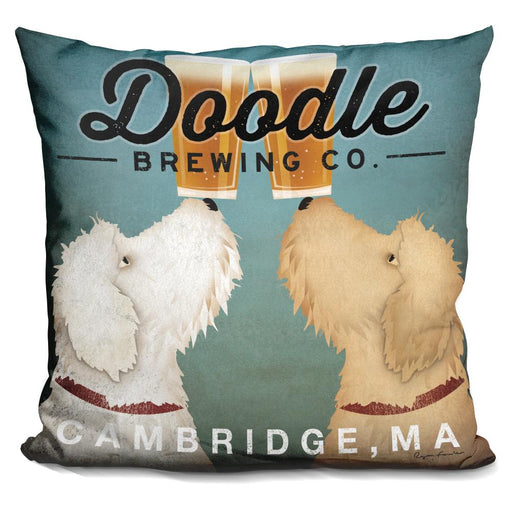 Doodle Beer Double Cambridge MA Pillow