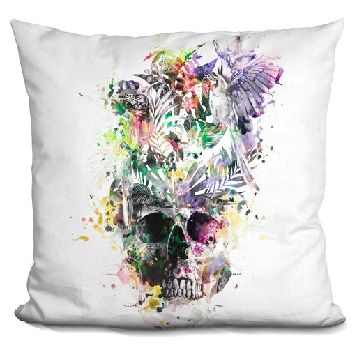 Skullparrots2 Pillow