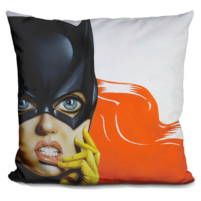 Bat Girl Pillow