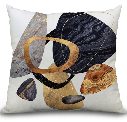 Abstract Pebbles III Pillow