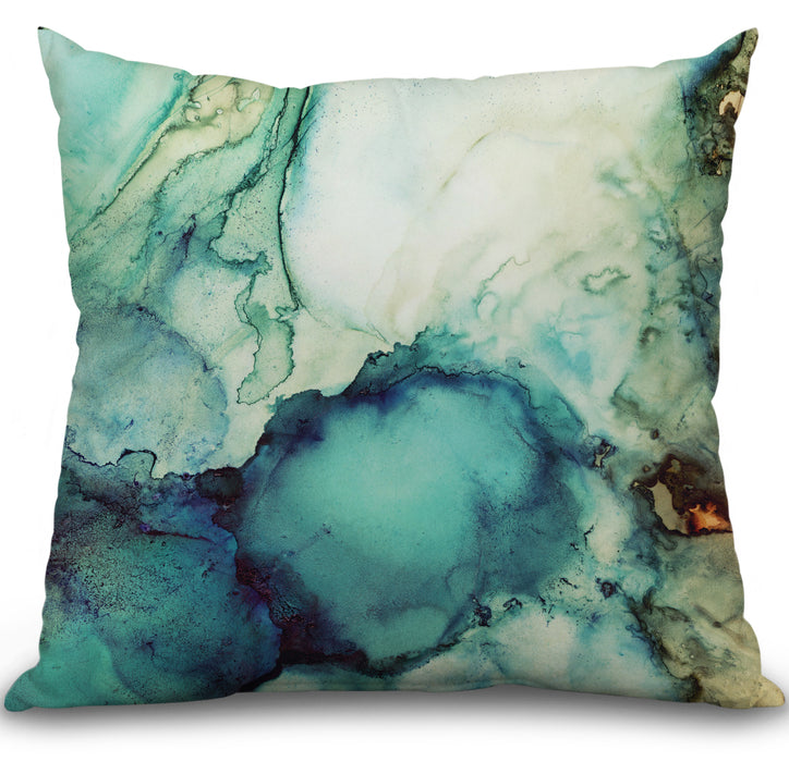 Teal Abstract Pillow