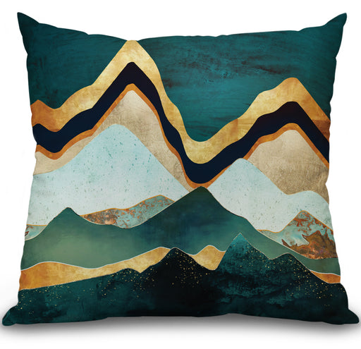 Velvet Copper Mountains Pillow