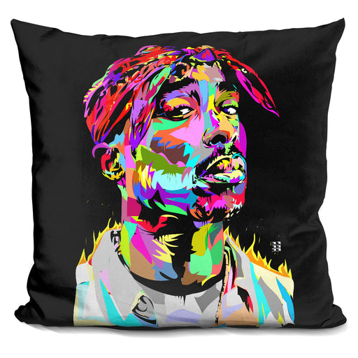 Tupac Black Pillow