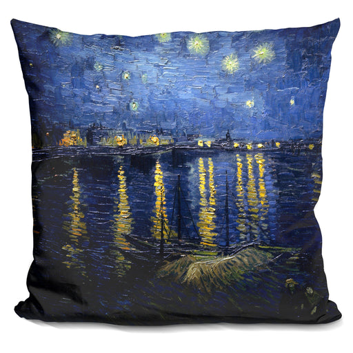 Starry Night Over The Rhone Pillow