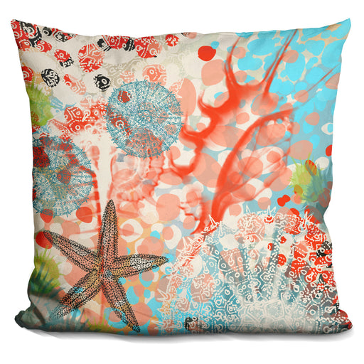 Exotic Sea Life V Pillow