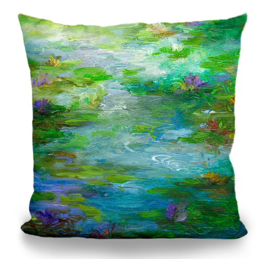 Water Lily Pond #1 Pillow