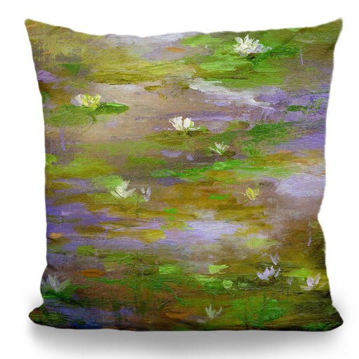 Water Lily Pond #3 Pillow