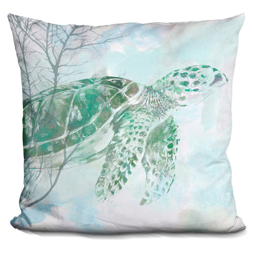 Watercolor Sea Turtle I Pillow
