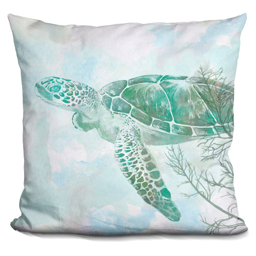 Watercolor Sea Turtle Ii Pillow