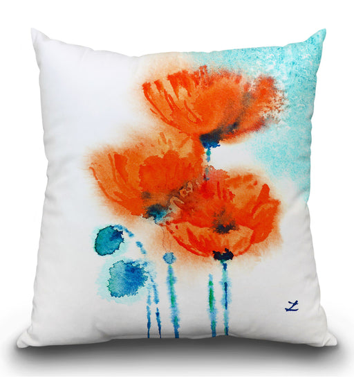 Poppy Symphony Pillow
