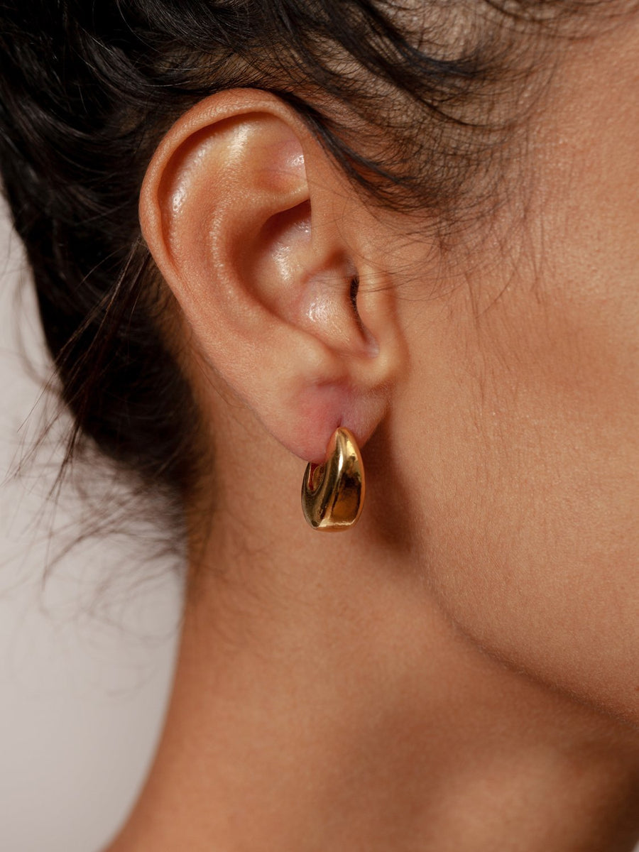 Hepworth Hoops in Gold