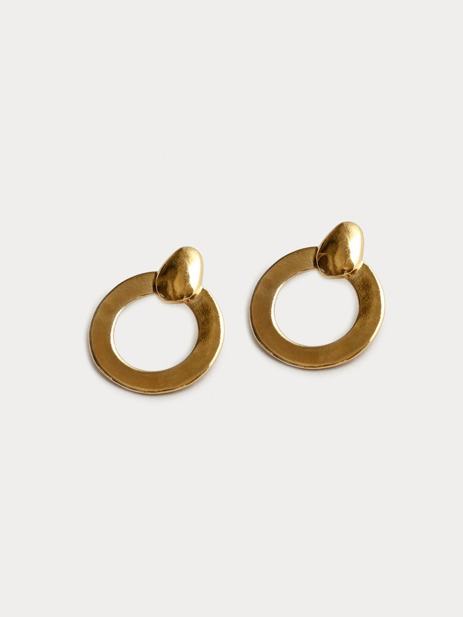 Lotti Hoops in Gold