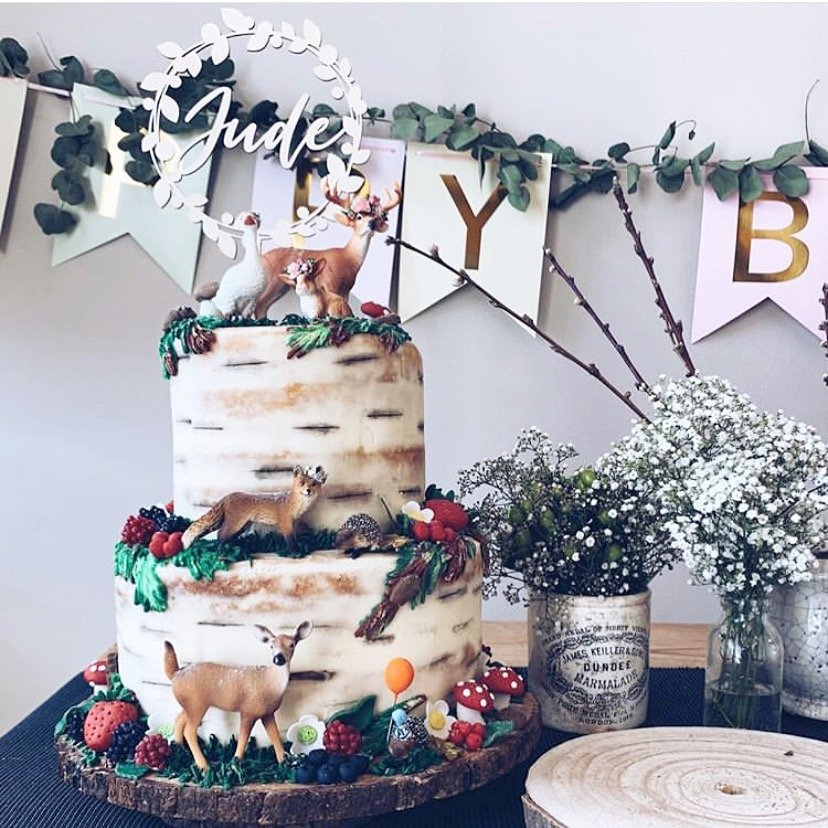 LAUREL CAKE TOPPER