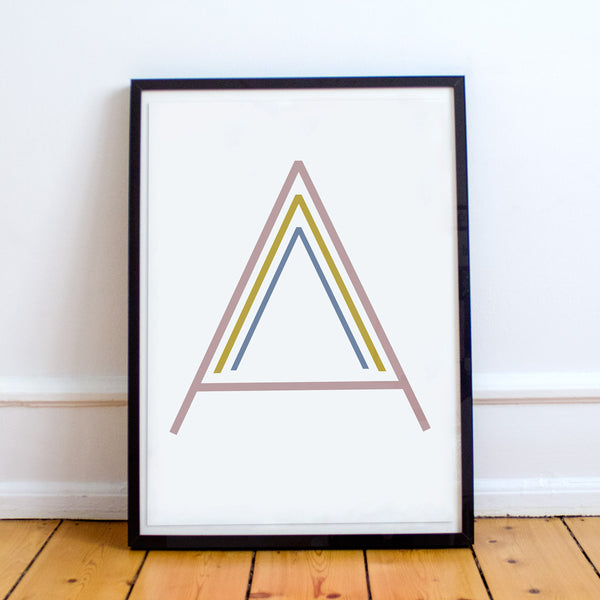 MUTED RAINBOW INITIAL PRINTS
