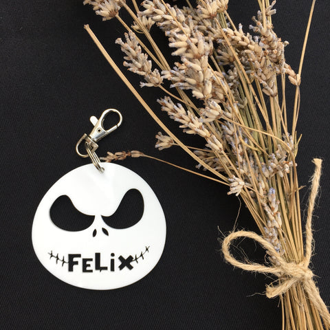 PERSONALISED 'NIGHTMARE BEFORE CHRISTMAS' BAG TAG