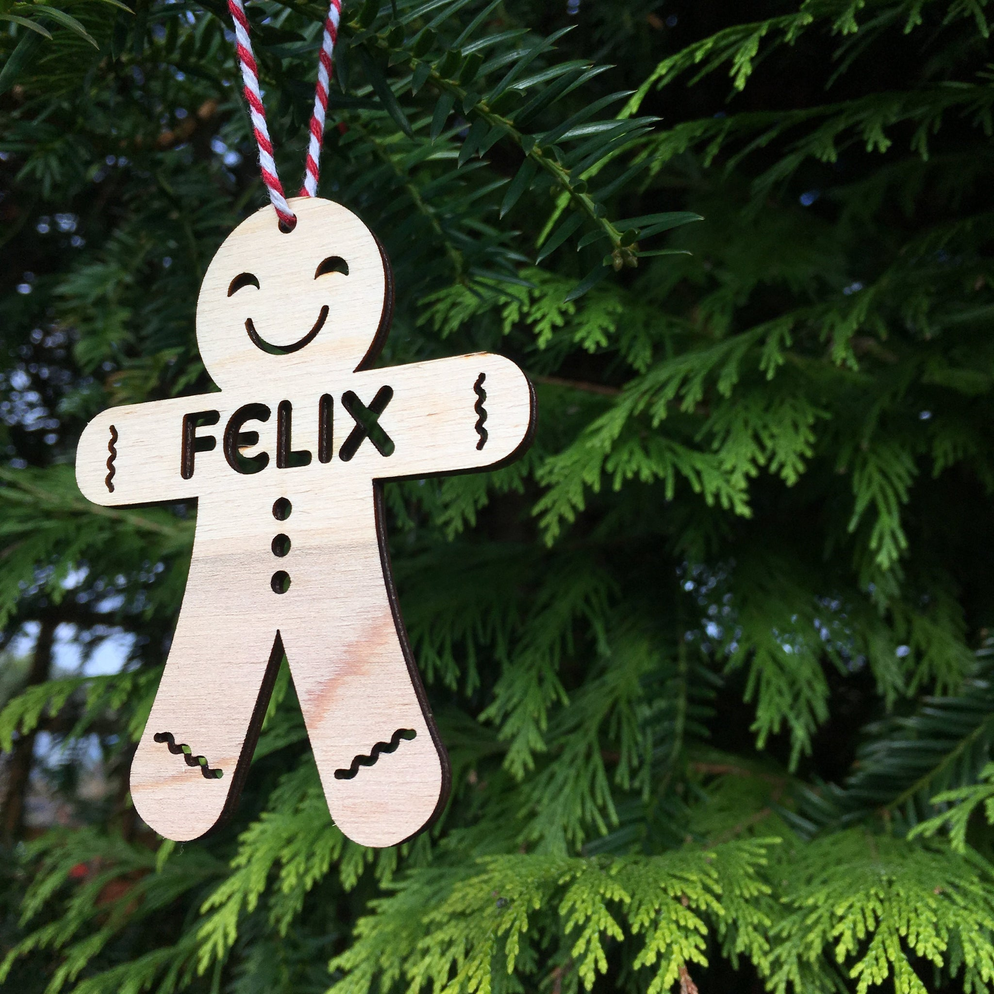 PERSONALISED GINGERBREAD DECORATION