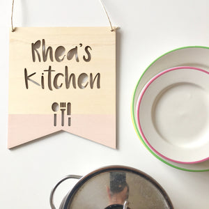 PERSONALISED KITCHEN PLAQUE