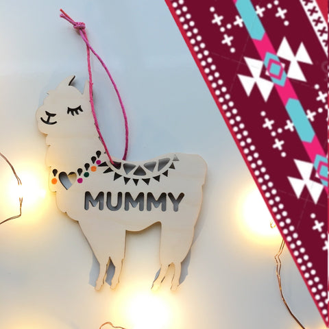 PERSONALISED LAMA DECORATION