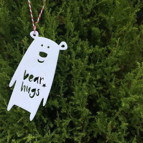 POLAR 'BEAR HUGS' DECORATION