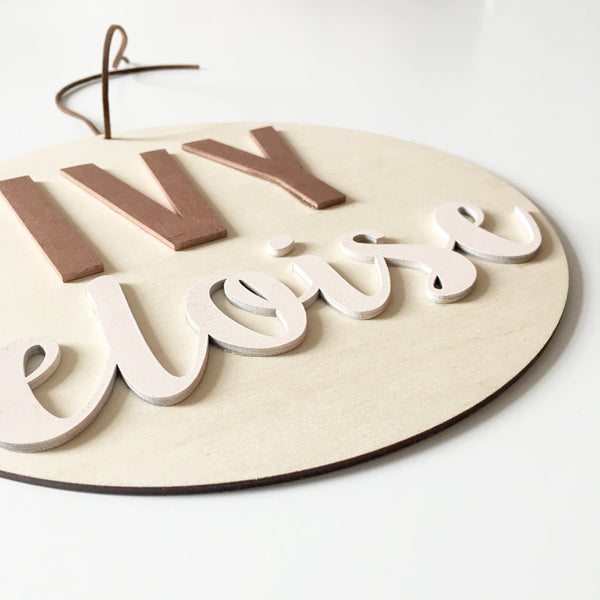 3D NAME PLAQUE