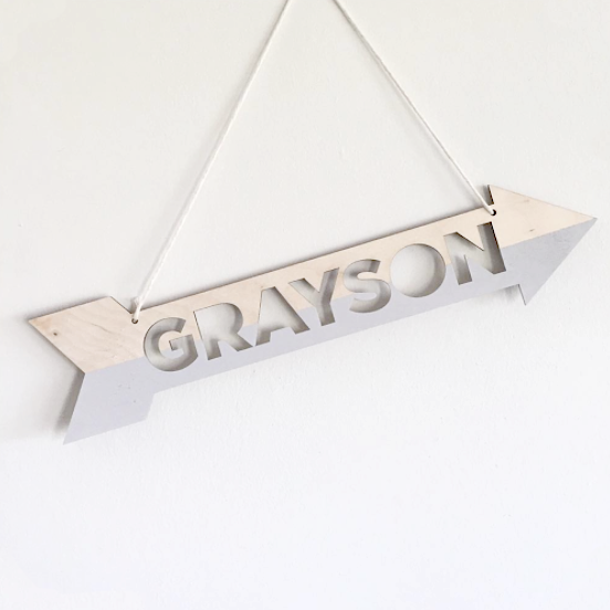 ARROW NAME PLAQUE