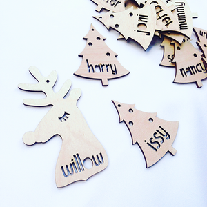 PERSONALISED REINDEER DECORATION