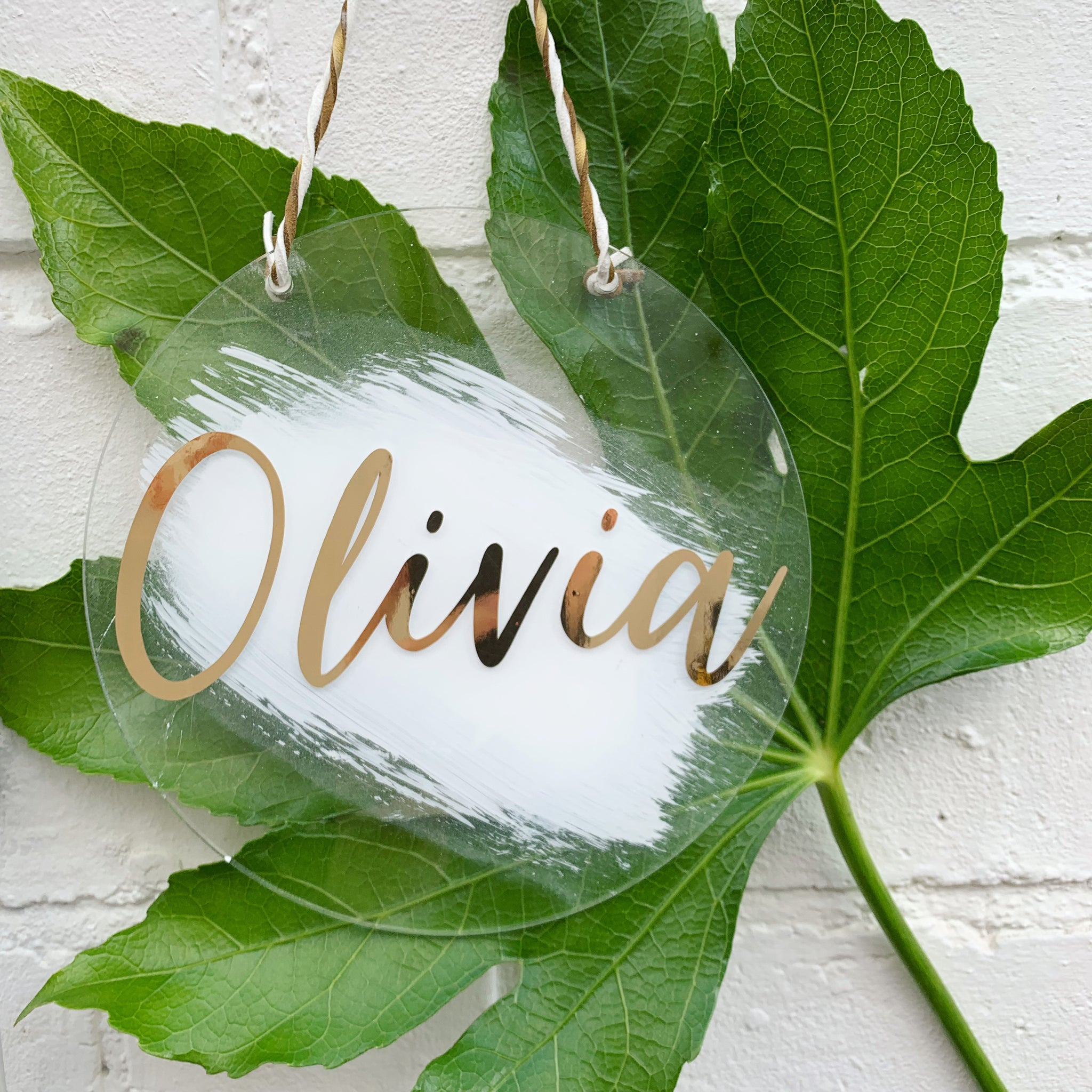 ACRYLIC BRUSH NAME PLAQUE