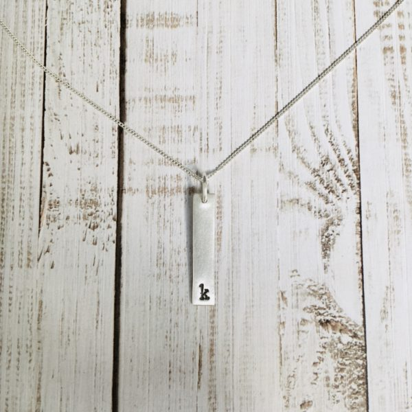PERSONALISED INITIAL BAR NECKLACE