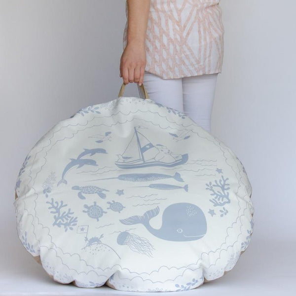 FLOOR CUSHION / BEAN BAG - CORNISH SEA