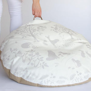 FLOOR CUSHION / BEAN BAG - SILVER BIRCH WOOD