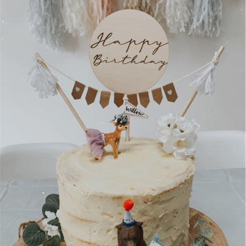 HAPPY BIRTHDAY DISC CAKE TOPPER