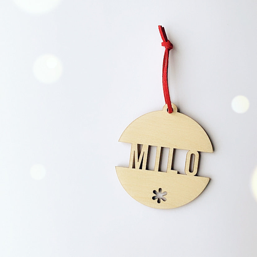PERSONALISED BAUBLE DECORATION
