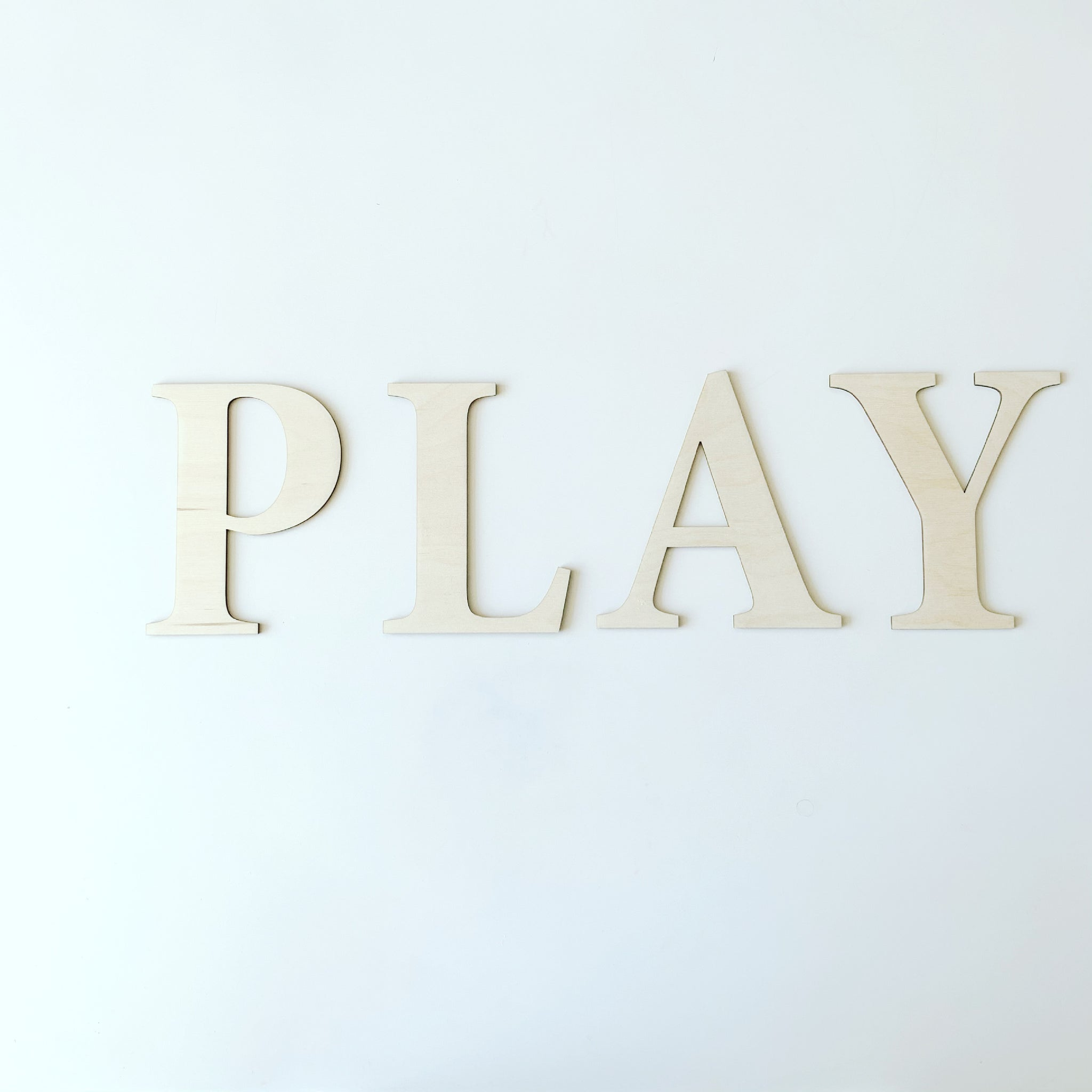 PLAY  |  SERIF DISPLAY LETTERS
