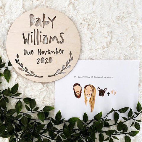 PREGNANCY ANNOUNCEMENT' PLAQUE