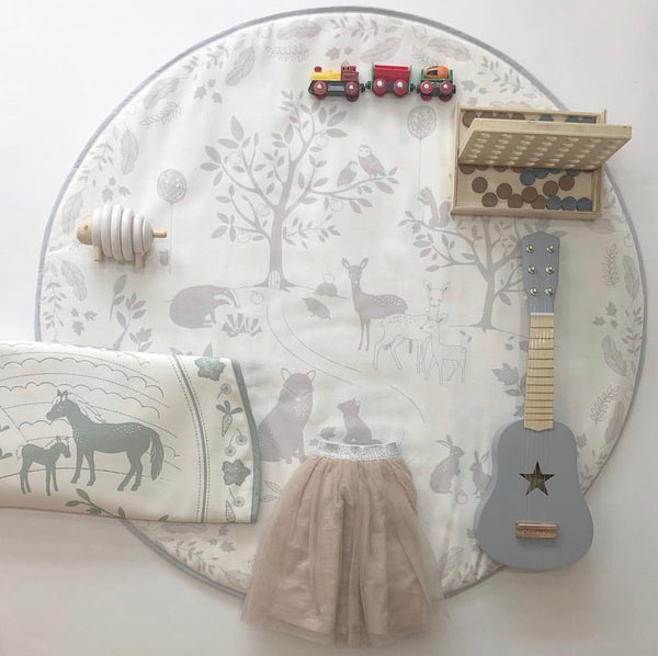 MODERN BABY PLAYMAT - SILVER BIRCH WOOD