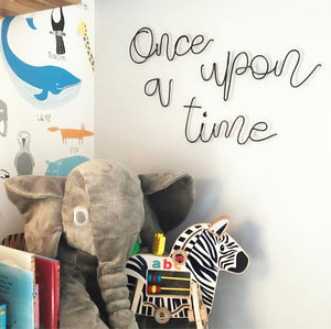 """Once upon a time"" WIRE WALL LETTERS"