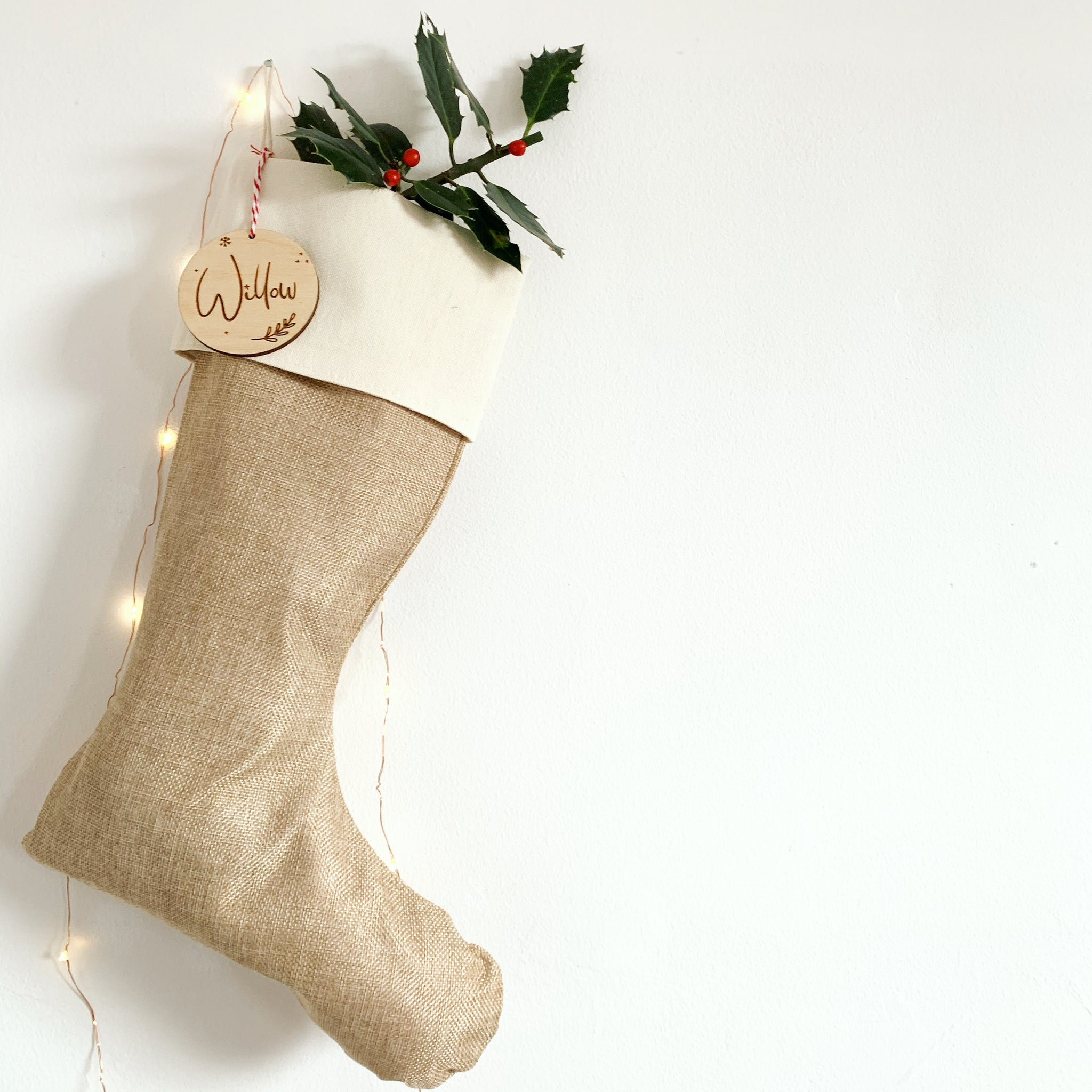 PERSONALISED NATURAL STOCKING