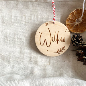 PERSONALISED JOLLY CHRISTMAS DECORATION