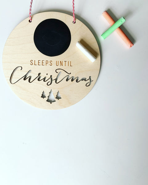 'SLEEPS UNTIL CHRISTMAS' CHALKBOARD SIGN